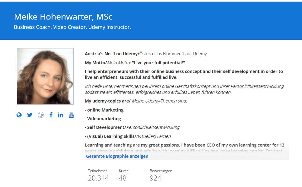 Udemy-Profil