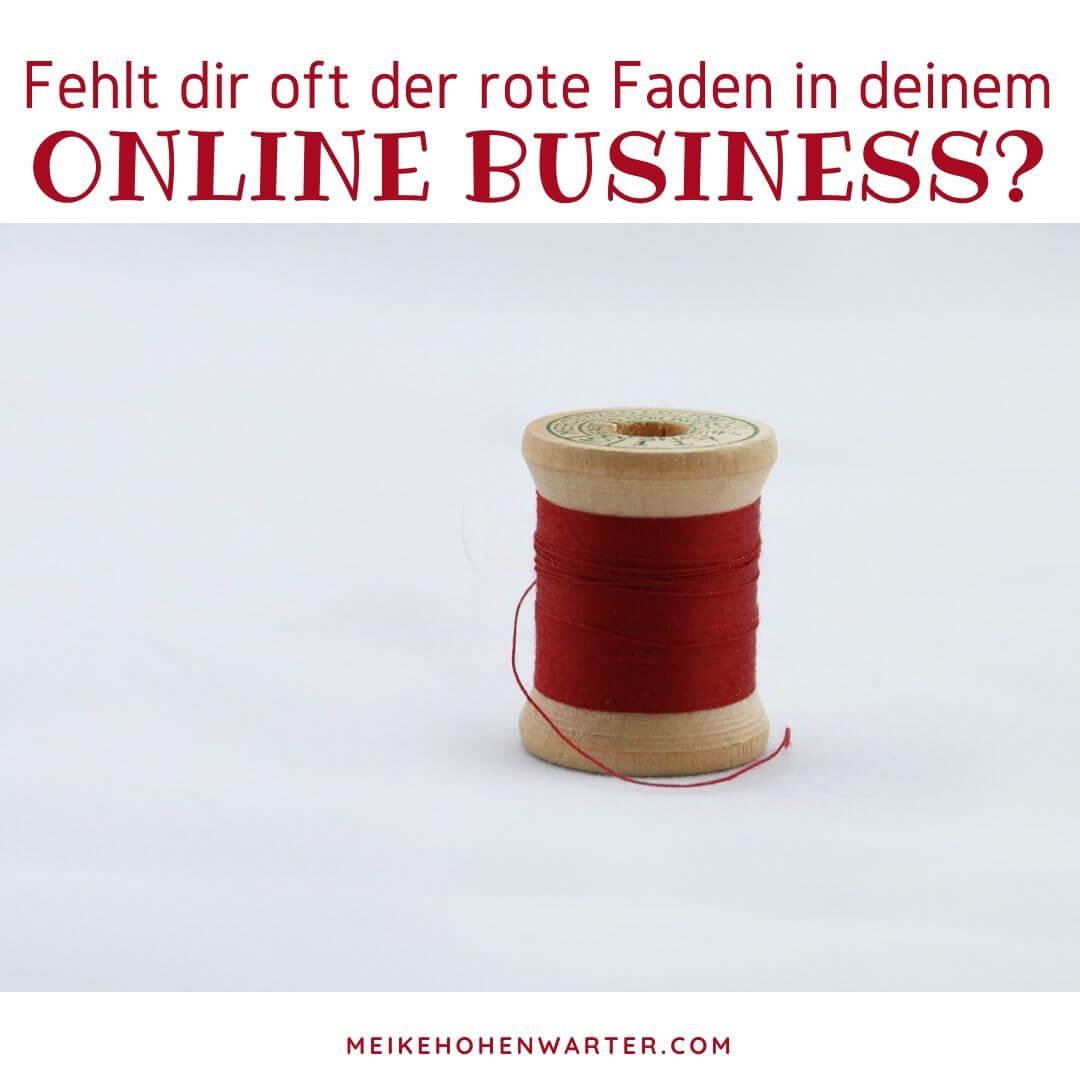 ROTER FADEN DES ONLINE BUSINESS
